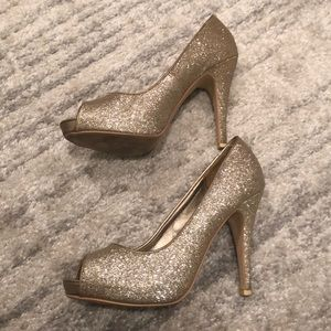 Call It Spring Shoes - CALL IT SPRING | Gold glitter heel | 8